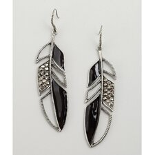Leaf Austrian Crystal Drop Earrings
