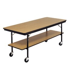 <strong>AmTab Manufacturing Corporation</strong> Sealed and Stained Plywood Top Utility Table