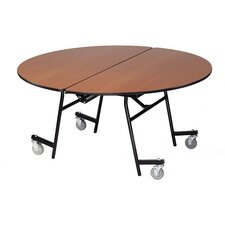 Vinyl Edge Particle Board Round Mobile Table
