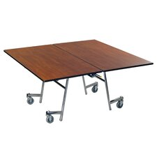 Vinyl Edge Particle Board Square Mobile Table
