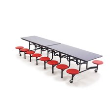 <strong>AmTab Manufacturing Corporation</strong> Mobile 16 Stool Table