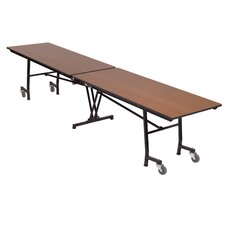 Vinyl Edge Particle Board Rectangle Mobile Table