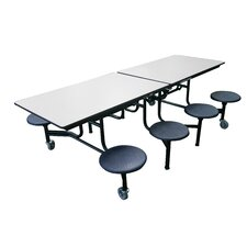 Mobile 8 Stool Table