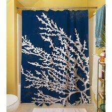 Coastal Coral Shower Curtain