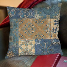 Moroccan Patchwork Printed Pillow