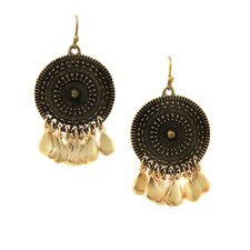 Concho Disk Drop Earrings