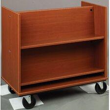 Library Sloped Shelf Book Truck