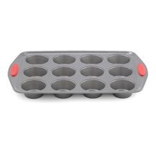 12 Cup Non Stick Silicone Muffin Pan in Grey