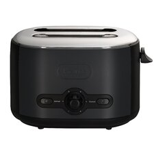 Debut 2 Slice Toaster in Black and Grey