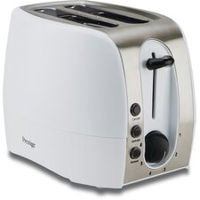 2 Slice Toaster in White