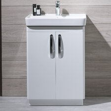 Compass Vanity Unit in Gloss White