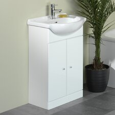 Meridian Vanity Unit in White Gloss
