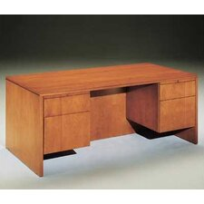 "Forte 66"" W 3/4 Pedestal Credenza with Drawer"