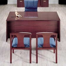 "<strong>High Point Furniture</strong> Vitality 72"" W 3/4 Left Pedestal Executive Desk with Drawers"
