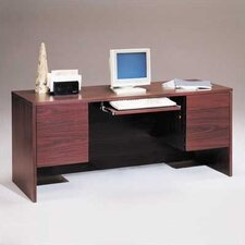 "<strong>High Point Furniture</strong> Bravo Panel 66"" W Computer Credenza with Drawers"