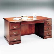 "<strong>High Point Furniture</strong> Legacy 72"" Double Pedestal Veneer Credenza"
