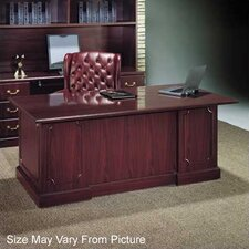 "<strong>High Point Furniture</strong> Wyndham 72"" Single Pedestal Executive Desk"