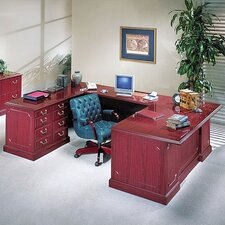 <strong>High Point Furniture</strong> Bedford U-Shaped Executive Desk Office Suite