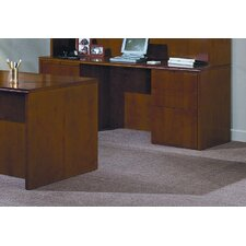"Forte 72"" W Full Double Pedestal Credenza - 4 Box/ 2 File Drawers"