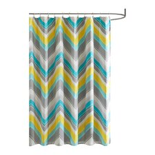 Elise Microfiber Printed Shower Curtain