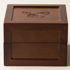 Butterfly Motif Medium Jewelry Box