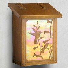 Hummingbird Vertical Wall Mounted Mailbox