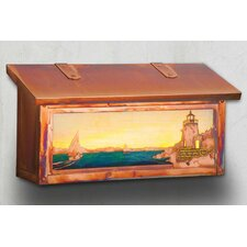 Castle Hill Lighthouse Horizontal Wall Mounted Mailbox