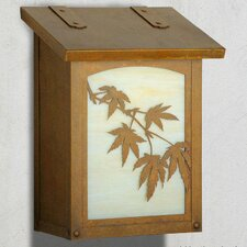 Japanese Maple Vertical Wall Mounted Mailbox