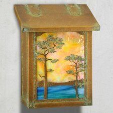 Monterey Pine Vertical Wall Mounted Mailbox