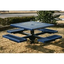 <strong>Kidstuff Playsystems, Inc.</strong> Kids Square Pedestal Picnic Table