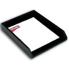 <strong>Dacasso</strong> 1000 Series Classic Leather Front-Load Letter Tray in Black