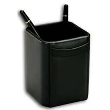 <strong>Dacasso</strong> 1000 Series Classic Leather Pencil Cup in Black