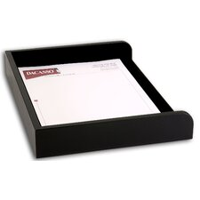 <strong>Dacasso</strong> 1000 Series Classic Leather Side-Load Letter Tray in Black