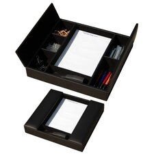 <strong>Dacasso</strong> 1000 Series Classic Leather Conference Room Organizer in Black
