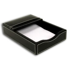 <strong>Dacasso</strong> 3200 Series Leather 4 x 6 Memo Holder in Rustic Black