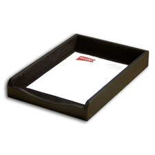 2000 Series Crocodile Embossed Leather Front-Load Legal Tray in Black