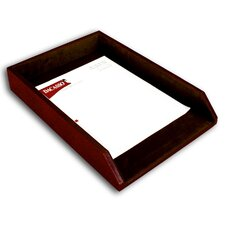 1000 Series Classic Leather Front-Load Legal Tray in Mocha
