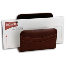 <strong>Dacasso</strong> 1000 Series Classic Leather Letter Holder in Mocha