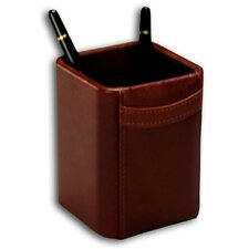 1000 Series Classic Leather Pencil Cup in Mocha