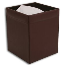 1000 Series Classic Leather Square Waste Basket