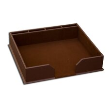 1000 Series Classic Leather Conference Pad Holder in Chocolate Brown