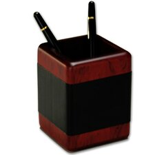 <strong>Dacasso</strong> 8000 Series Rosewood and Leather Pencil Cup