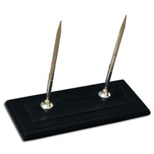 8000 Series Blackwood and Leather Double Pen Stand