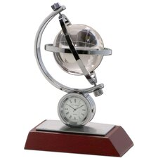 <strong>Dacasso</strong> Birchwood and Metal Global Clock