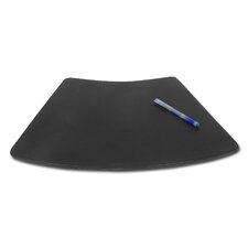1000 Series Classic Leather 17 x 14 Conference Pad For Round Tables in Black