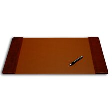<strong>Dacasso</strong> 1000 Series Classic Leather 25.5 x 17.25 Side-Rail Desk Pad in Mocha