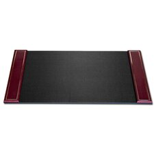 <strong>Dacasso</strong> 5000 Series 24kt Gold Tooled Leather 34 x 20 Side-Rail Desk Pad in Burgundy