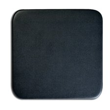 "1000 Series Classic Top-Grain Leather 4"" Square Coaster in Black"