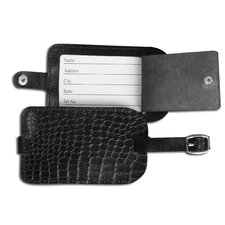<strong>Dacasso</strong> 2000 Series Crocodile Embossed Leather Luggage Tag