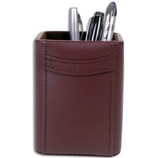 <strong>Dacasso</strong> 1000 Series Classic Leather Pencil Cup in Chocolate Brown